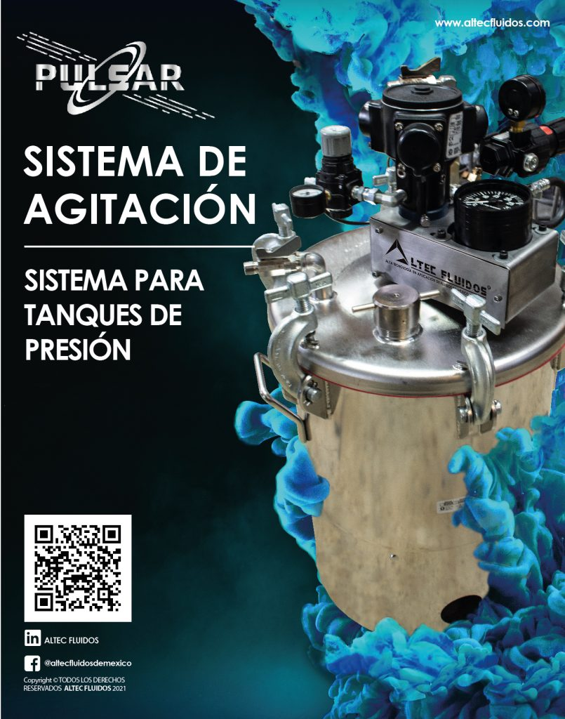 Sistema de agitación para tanques de presión